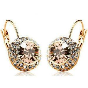 Bejeweled Gold Gem and Rhinestone Click Close Hugg